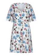 Mela London Curve Flower Print Tea Dress