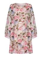 Mela London Curve Mixed Floral Pattern Tunic Dress