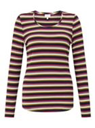 East Stripe V Neck Top