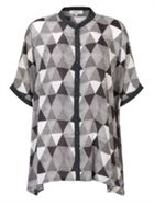 East Pyramid Print Oversize Blouse