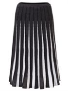 East Merino Pleat Stripe Skirt