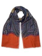 East Paisley Wool Silk Scarf