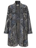 East Wool Paisley Blanket Coat