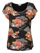 East Shanghai Print Jersey Top