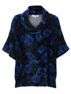East Silk Velvet Anna Bardot Top