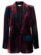 East Silk Velvet Eva Print Jacket