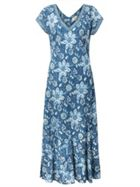 East Anokhi Indigo Garden Dress