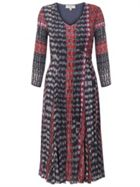 East Inez Print Pleat Dress