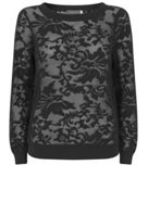 Mint Velvet Black Embroidered Sweat