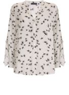 Mint Velvet Ginko Print Tie Sleeve Top