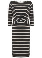 Mint Velvet Stripe Wrap Front Jersey Dress