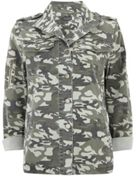 Mint Velvet Light Khaki Camo Shirt Jacket