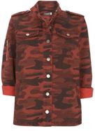 Mint Velvet Red Camo Shirt Jacket