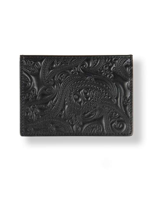 a7ba672d97e Pretty Green Leather Paisley Embossed Cardholder - House of Fraser