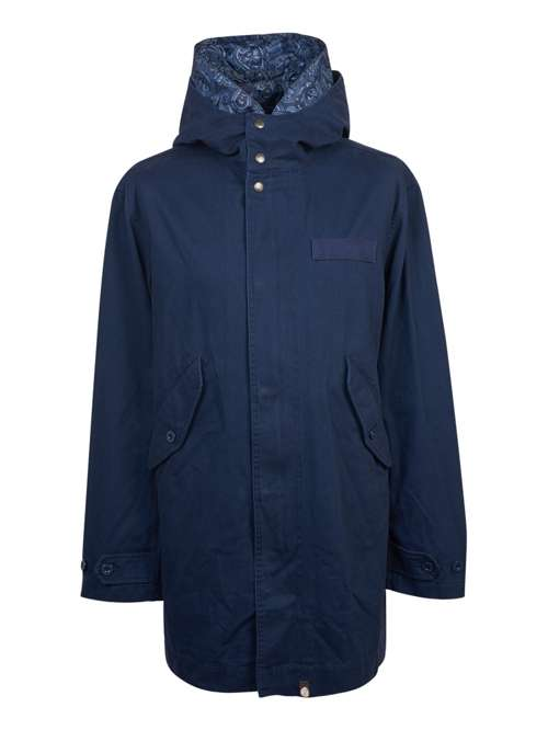 e58fc241987 Pretty Green Cotton Zip Up Hooded Parka - House of Fraser