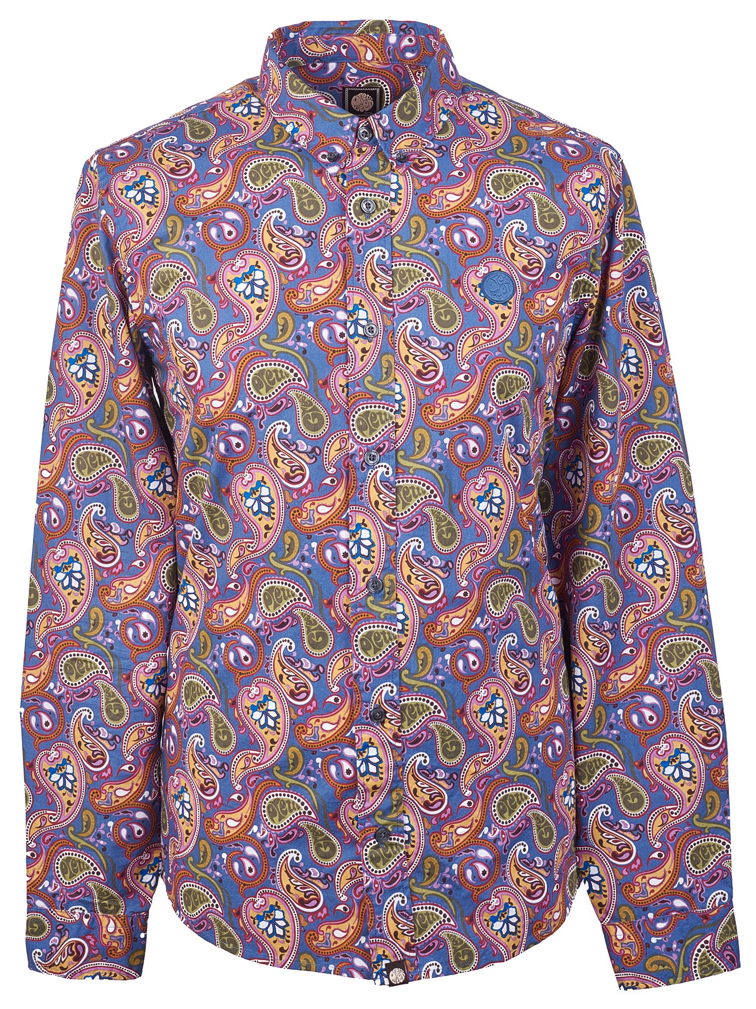 Men's Vintage Style Shirts Mens Pretty Green Slim Fit Paisley Print Shirt Multi-Coloured £70.00 AT vintagedancer.com