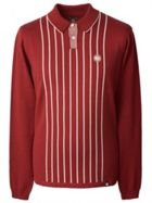 Men's Pretty Green Center Striped Knitted Polo