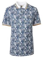 Men's Pretty Green Paisley Print Pique Polo Shirt