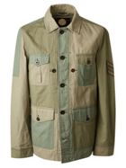 Men's Pretty Green Contrast Panel Overshirt