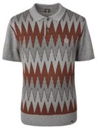 Men's Pretty Green Geo Wave Knitted Polo Shirt