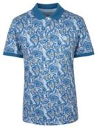 Men's Pretty Green Pique Paisley Print Polo