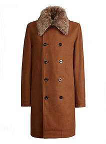 Pretty Green Double Breasted Trench Coat ... 6be49a922