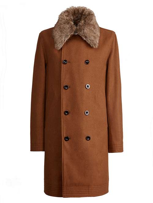 18d5cfc5413 Pretty Green Double Breasted Trench Coat - House of Fraser