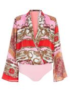 Quiz Quiz Pink And Red Satin Scarf Print