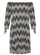 Quiz Quiz Black And Stone Zig Zag Print