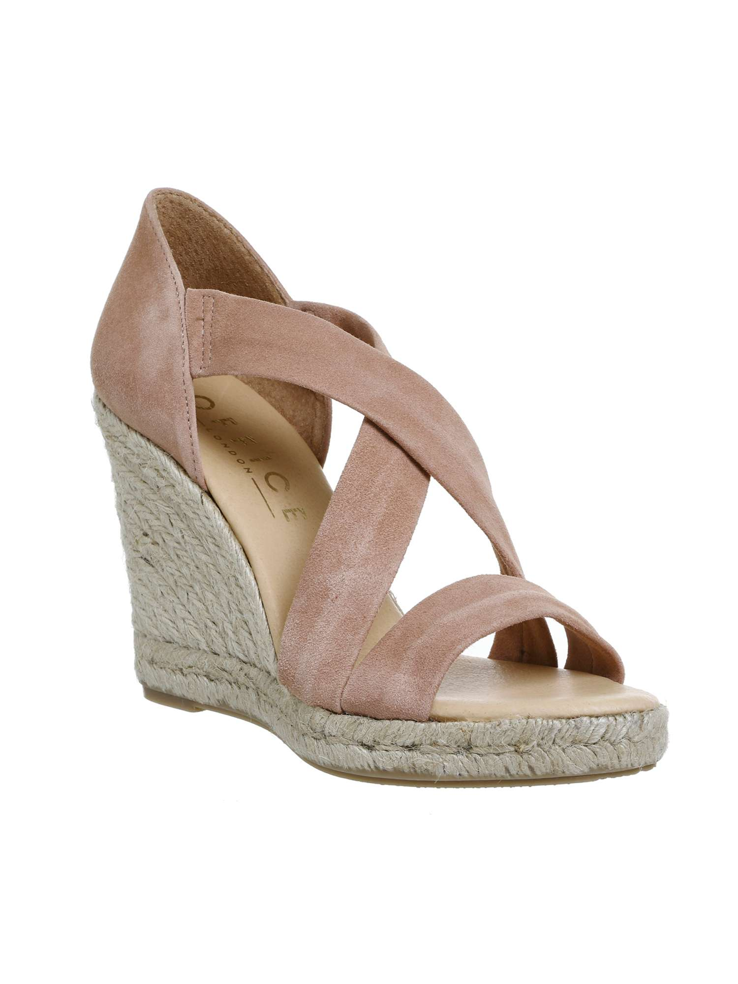 0b93490ff8b6b Office Holiday cross front espadrille wedges ...