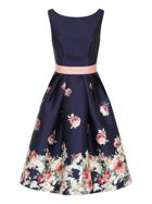 Chi Chi London Digital Floral Block Print Midi