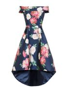 Chi Chi London Printed Bardot Dip Hem Dress