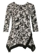 Izabel London Long Sleeve Floral Print Trim Detail
