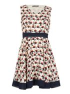 TENKI Sleeveless Geo Circle Skater Dress