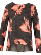 TENKI Two Tone Floral Top Jumper