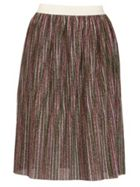 TENKI Stripy Shiny Midi Skirt