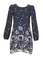TENKI Full Sleeve Paisley Shift Dress