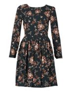 TENKI Full Sleeve Floral Tie Back Dress