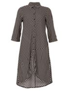 TENKI Full Sleeve Stripy Shirt Dress