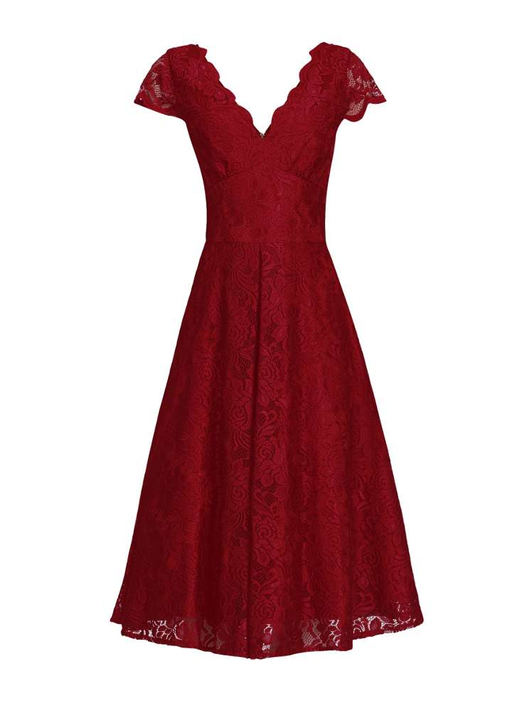 Jolie Moi Cap Sleeve Lace Prom Dress - House of Fraser
