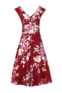 Jolie Moi Floral Print Fit & Flare Dress