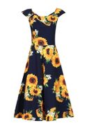 Jolie Moi Retro Floral Print Swing Dress