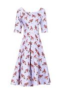 Jolie Moi Floral Print Half Sleeved Swing Dress