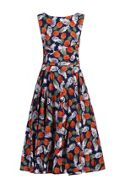Jolie Moi Pineapple Pattern Printed Swing Dress