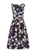 Jolie Moi Floral Print Crossover Beleted Dress