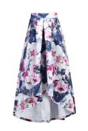 Printed High Low Prom Skirt