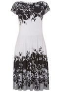 Havren Darcy Floral Border Dress