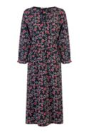 Nougat London Bay Tie Neck Dress
