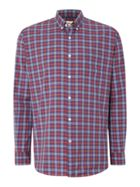Men's TM Lewin Poplin Graph Check Button Down