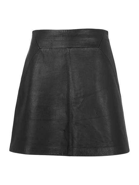 Whistles Leather A-line Skirt - House of Fraser